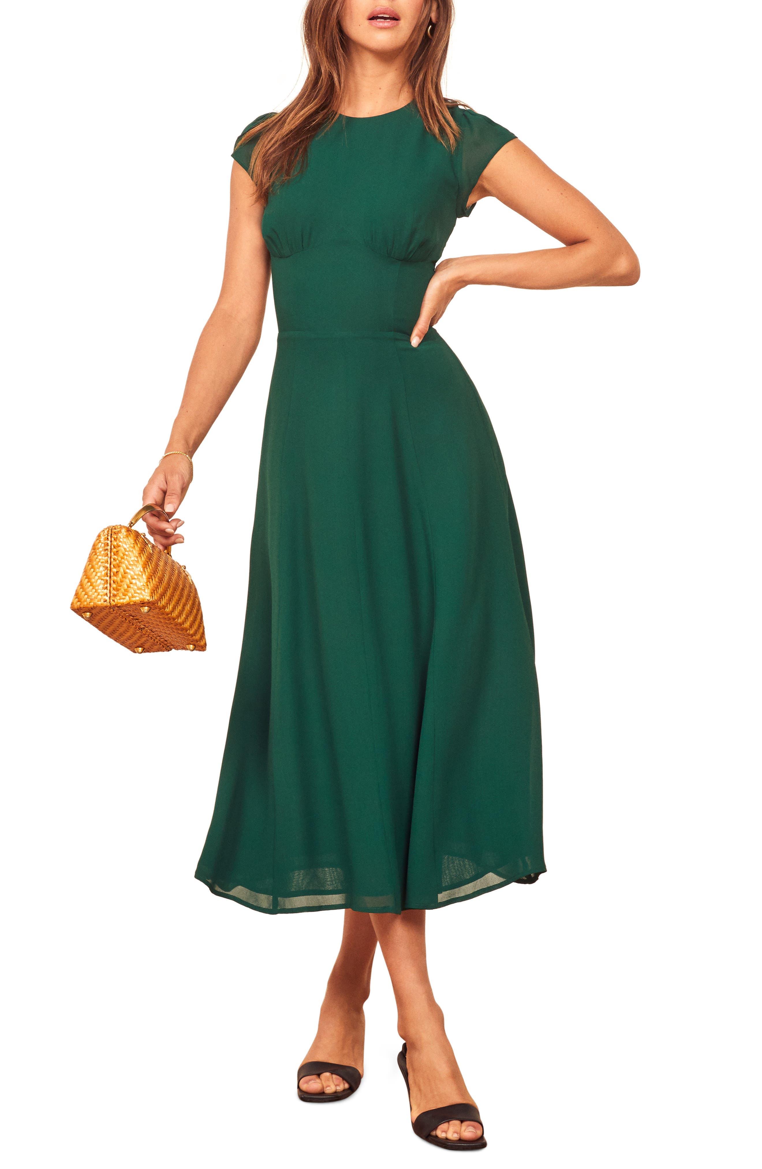 1930s Day Dresses, Afternoon Dresses History Womens Reformation Hayden A-Line Dress $248.00 AT vintagedancer.com