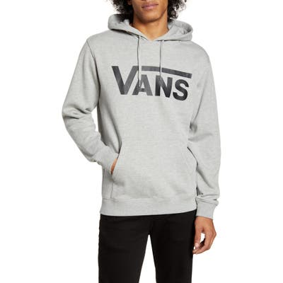 Vans Classic Fit Logo Hooded Sweatshirt, Grey