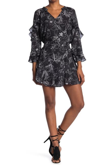 Image of Parker Long Sleeve Ruffle Smocked Waist Dress