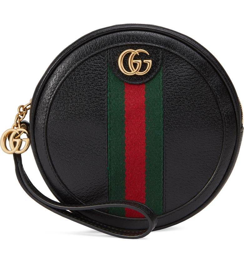 GUCCI Ophidia Circle Wristlet, Main, color, NERO/ VERT RED VERT