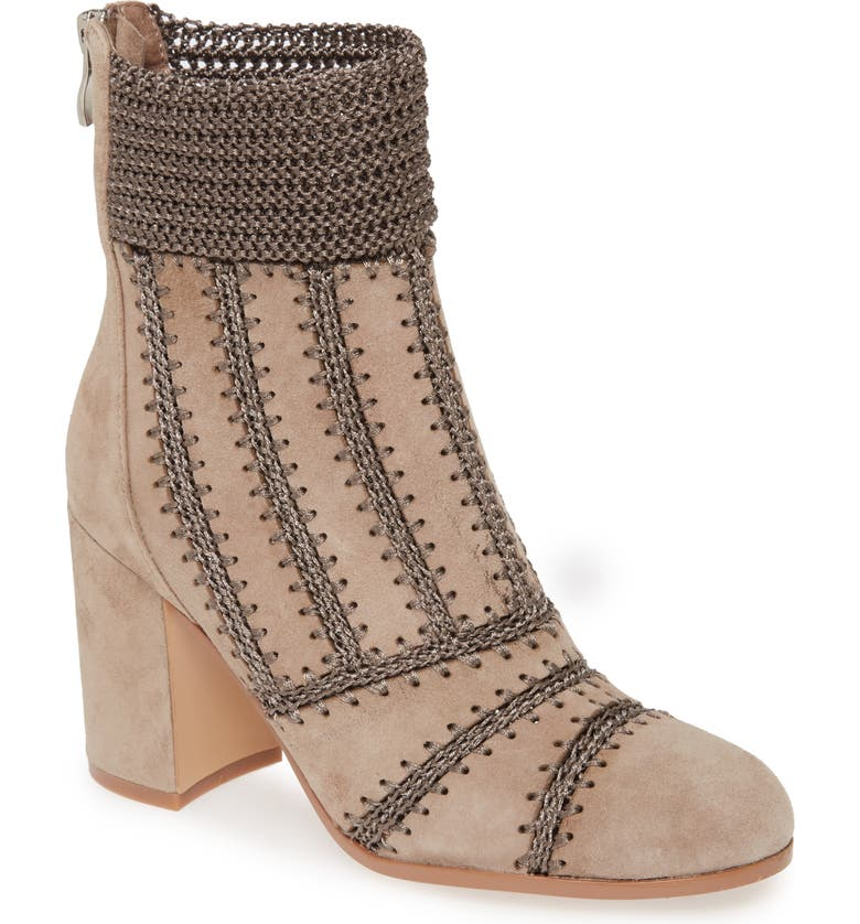 SILENT D Washer Bootie, Main, color, TAUPE SUEDE