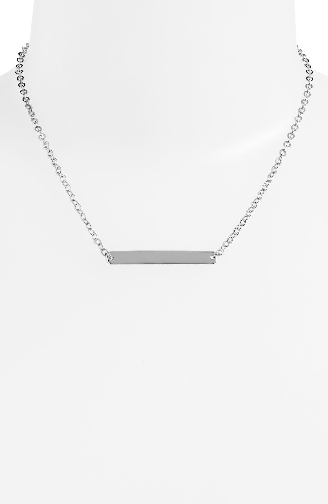 Bar Pendant Necklace, Main, color, 040