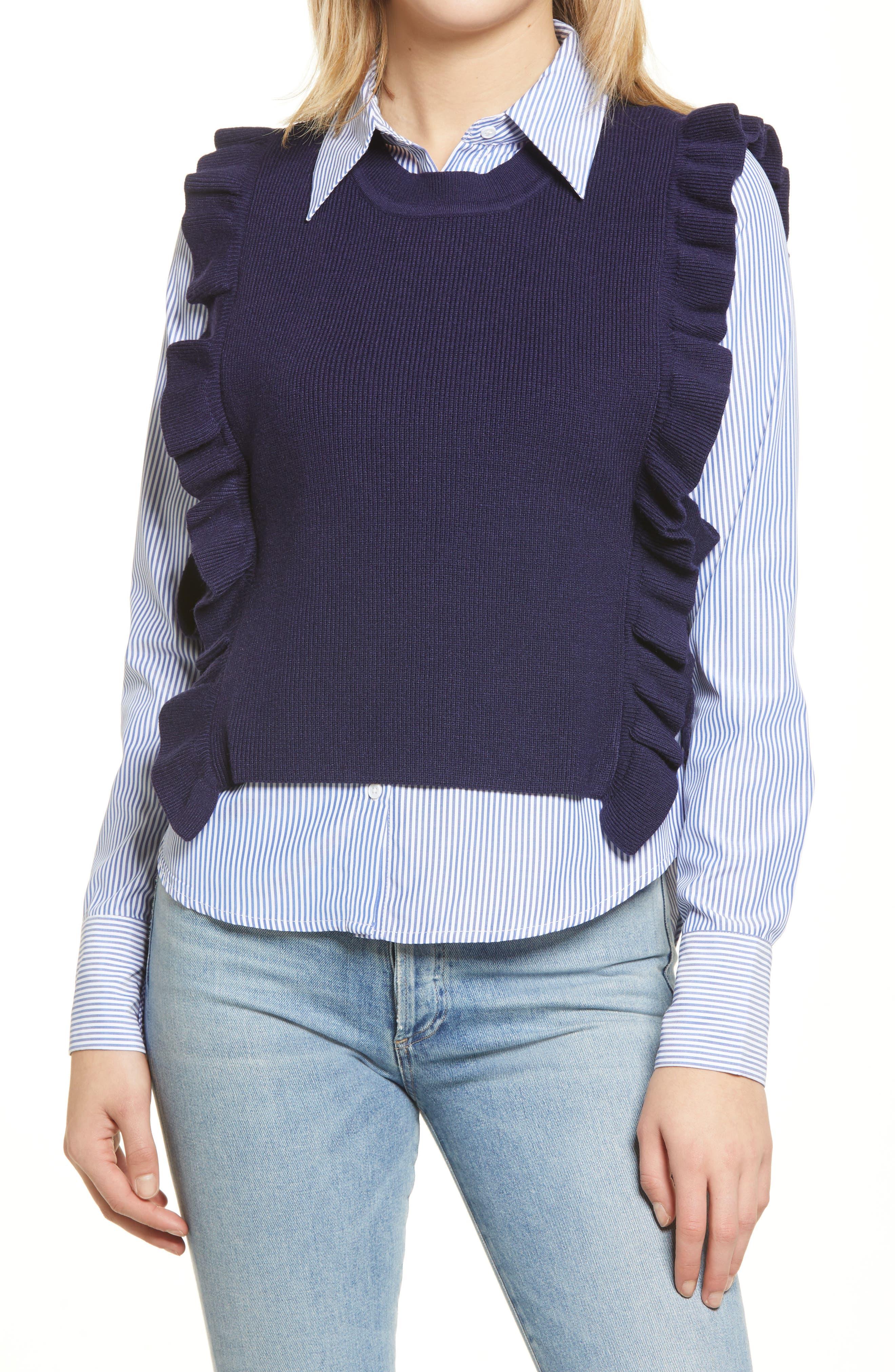 Combination Sweater Vest & Button-Up Shirt