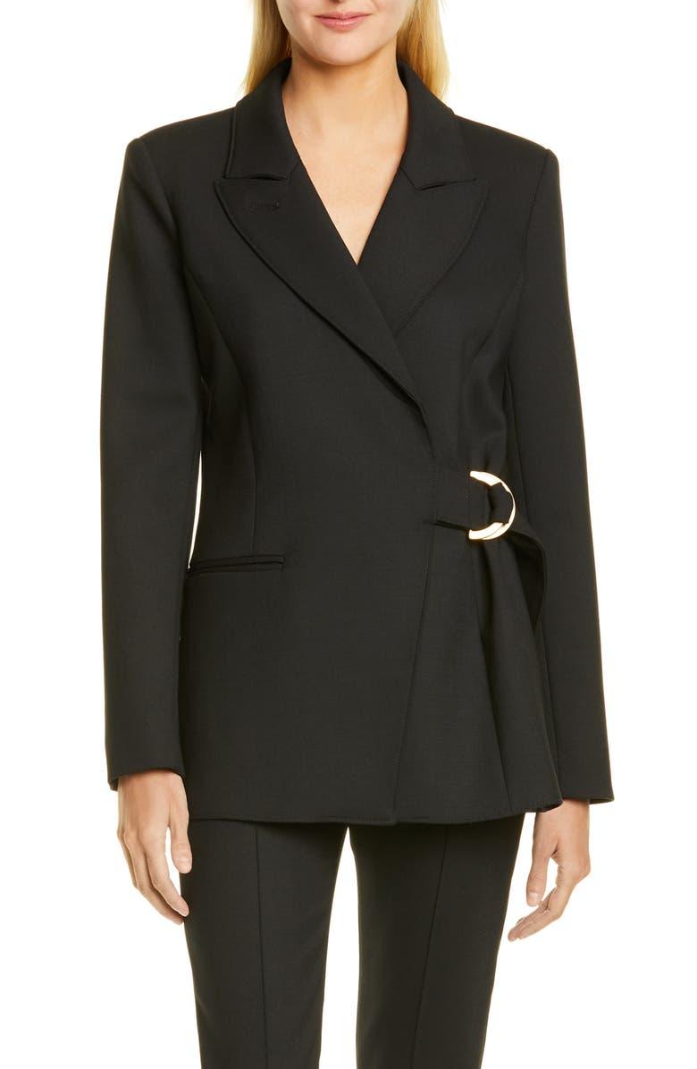 SMYTHE D-Ring Blazer, Main, color, BLACK