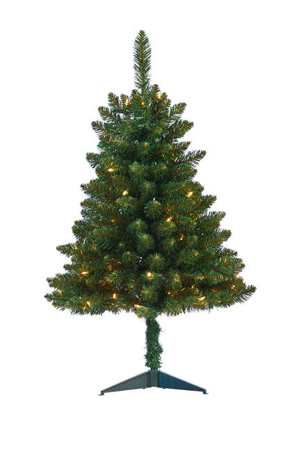 Image of NEARLY NATURAL 3ft. Northern Rocky Spruce Artificial Christmas Tree with 50 Clear Lights