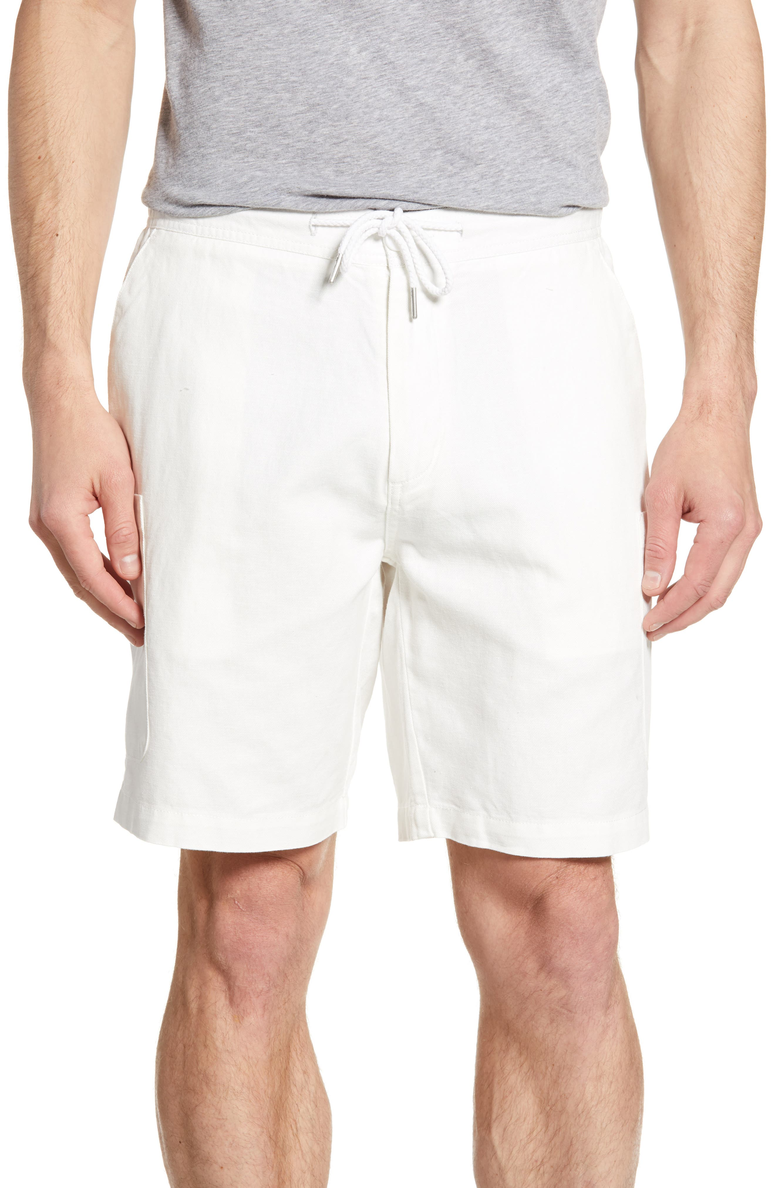 Reyn Spooner Linen Blend Cargo Shorts, White