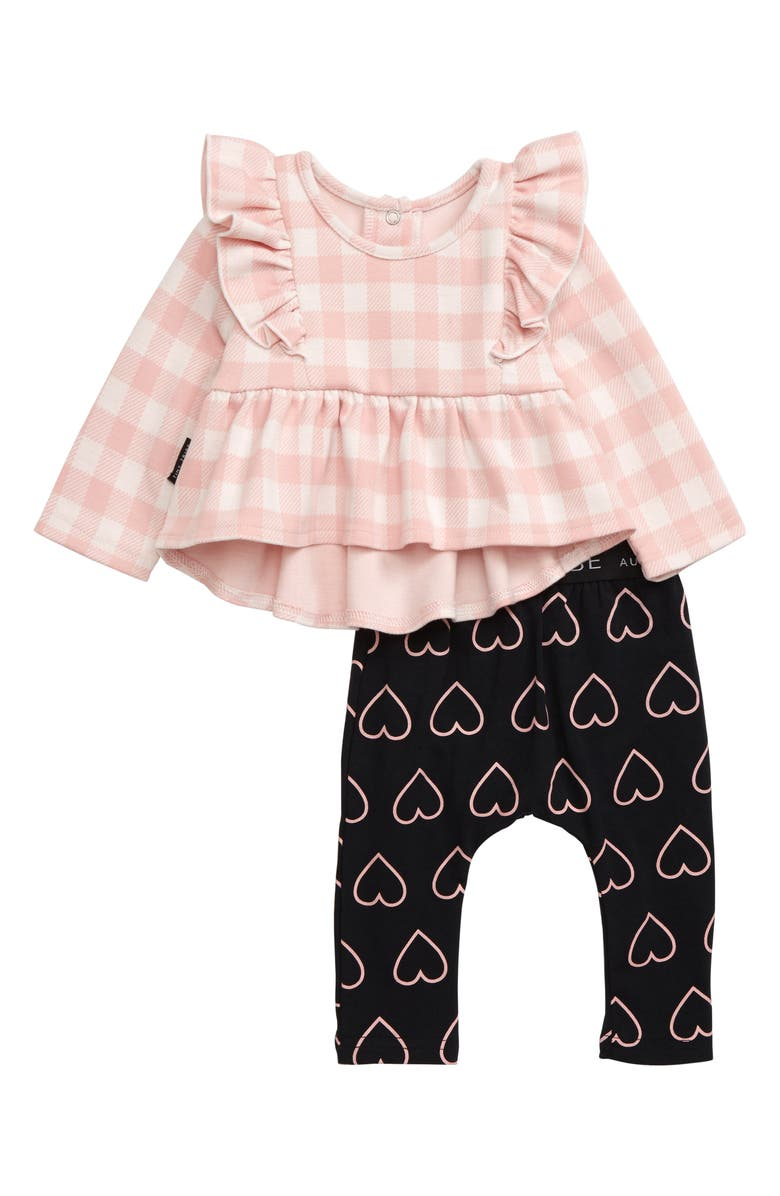 TINY TRIBE Check Swing Top & Leggings Set, Main, color, 650