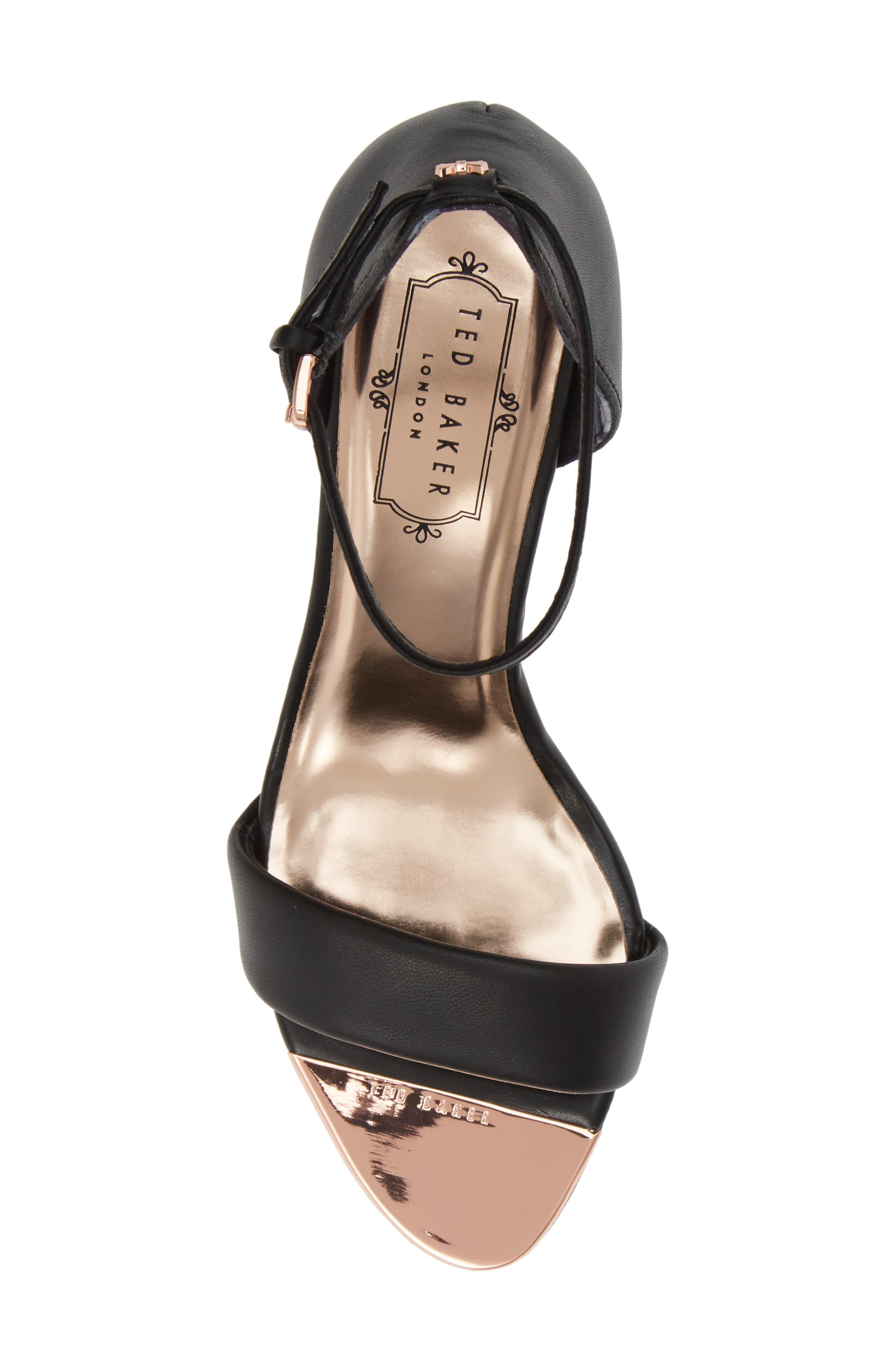,                             Shea Ankle Strap Sandal,                             Alternate thumbnail 6, color,                             BLACK LEATHER