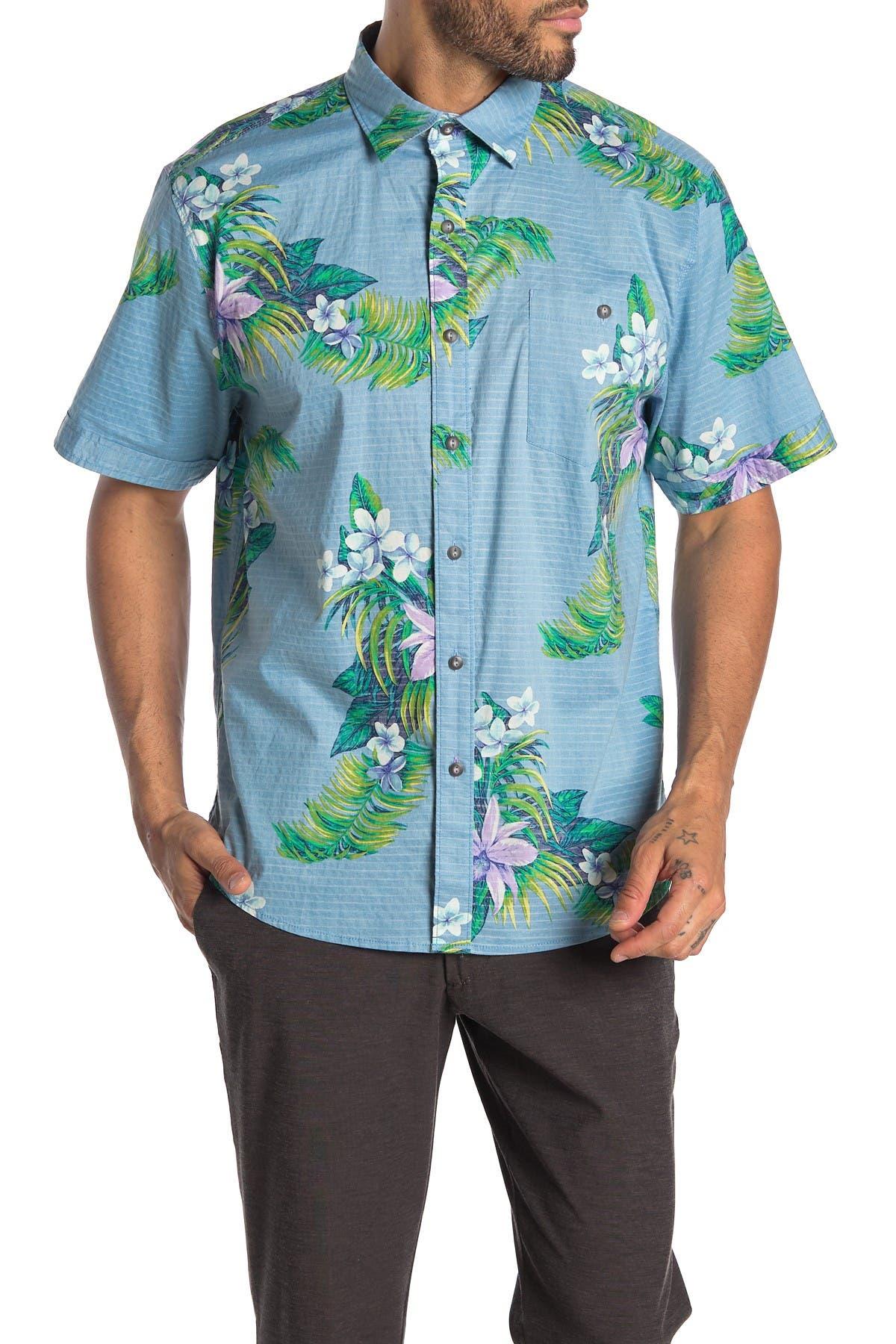 Image of Tommy Bahama Avenza Blooms Short Sleeve Tropical Floral Print Hawaiian Shirt