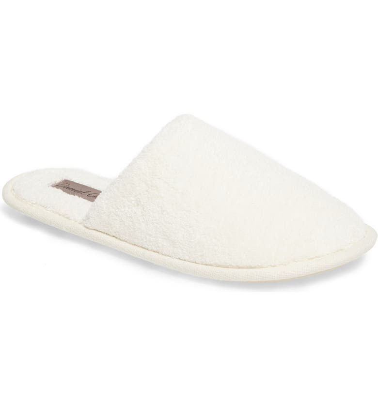 DANIEL GREEN Rave II Slipper, Main, color, WHITE FABRIC