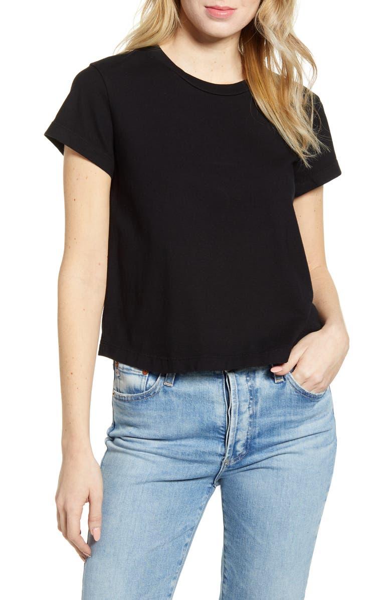 AG Del Rey T-Shirt, Main, color, TRUE BLACK