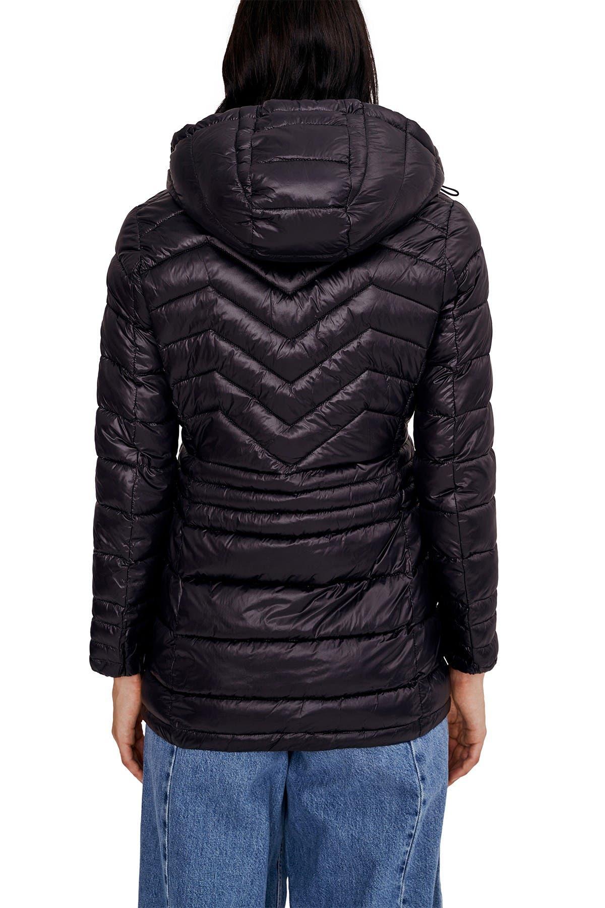 NOIZE Eden Lightweight Hooded Zip Puffer Jacket