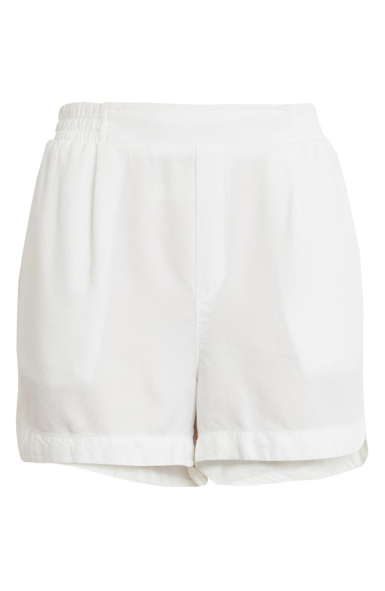 TREASURE & BOND Smocked Waist Shorts, Main, color, WHITE
