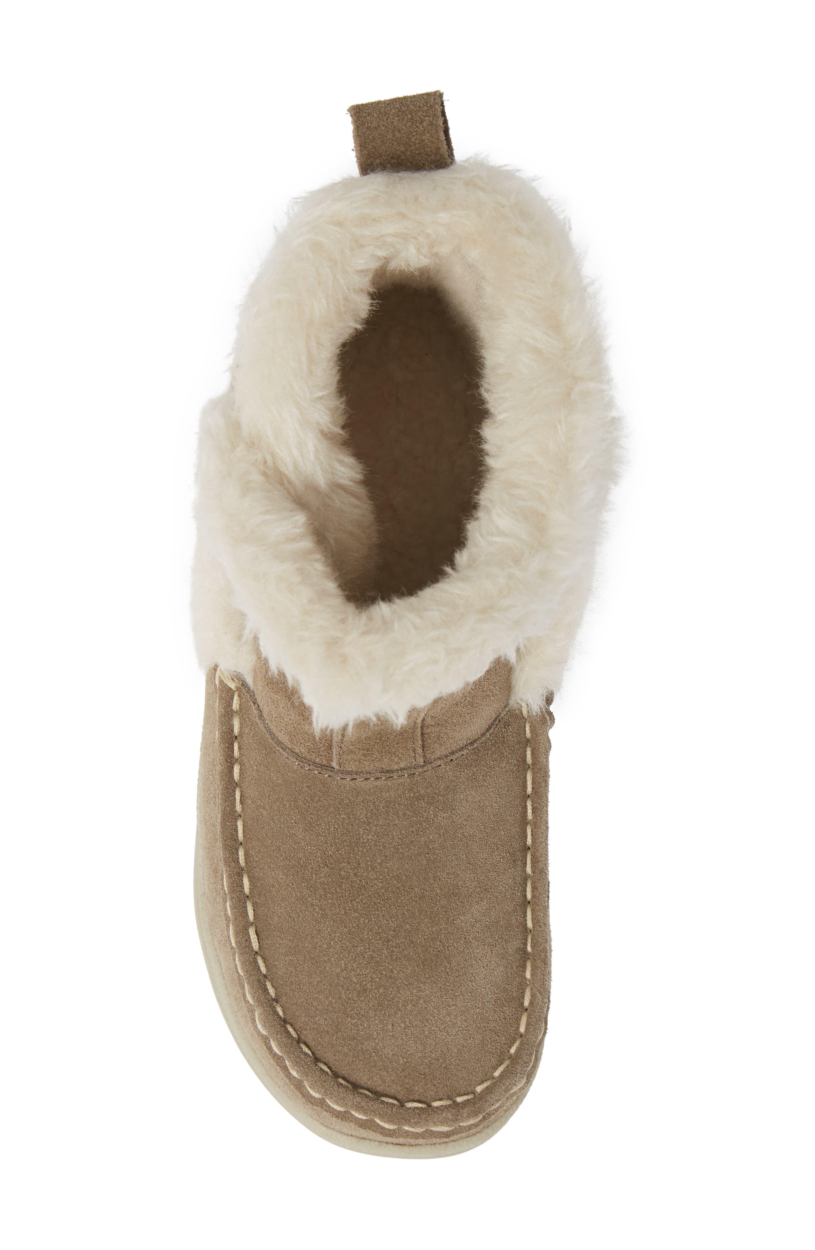 ,                             Pine Creek II Faux Fur Trim Boot,                             Alternate thumbnail 5, color,                             STEEL/ HERRINGBONE SUEDE