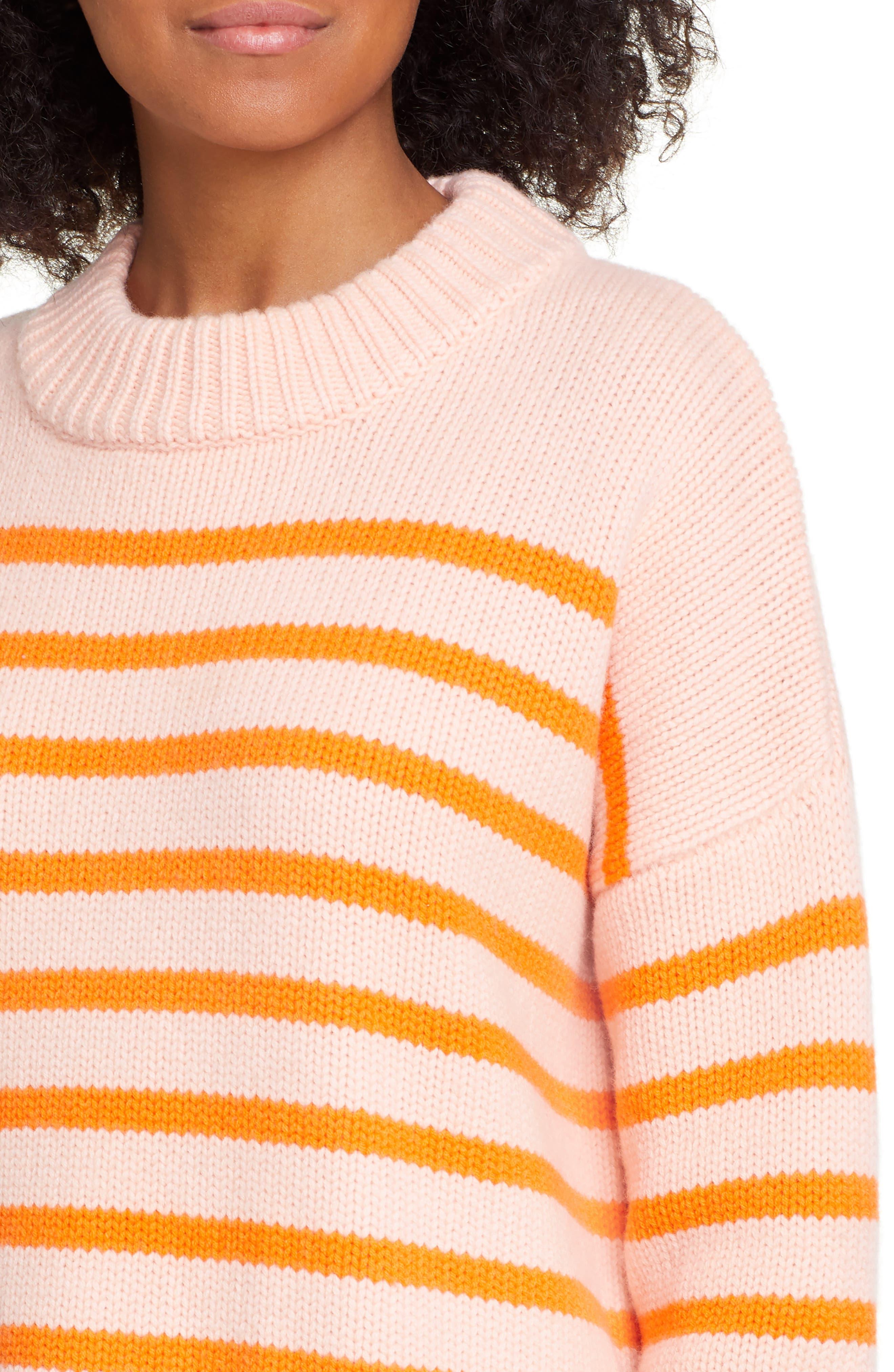 ,                             Marin Wool & Cashmere Sweater,                             Alternate thumbnail 4, color,                             PEACH/ ORANGE