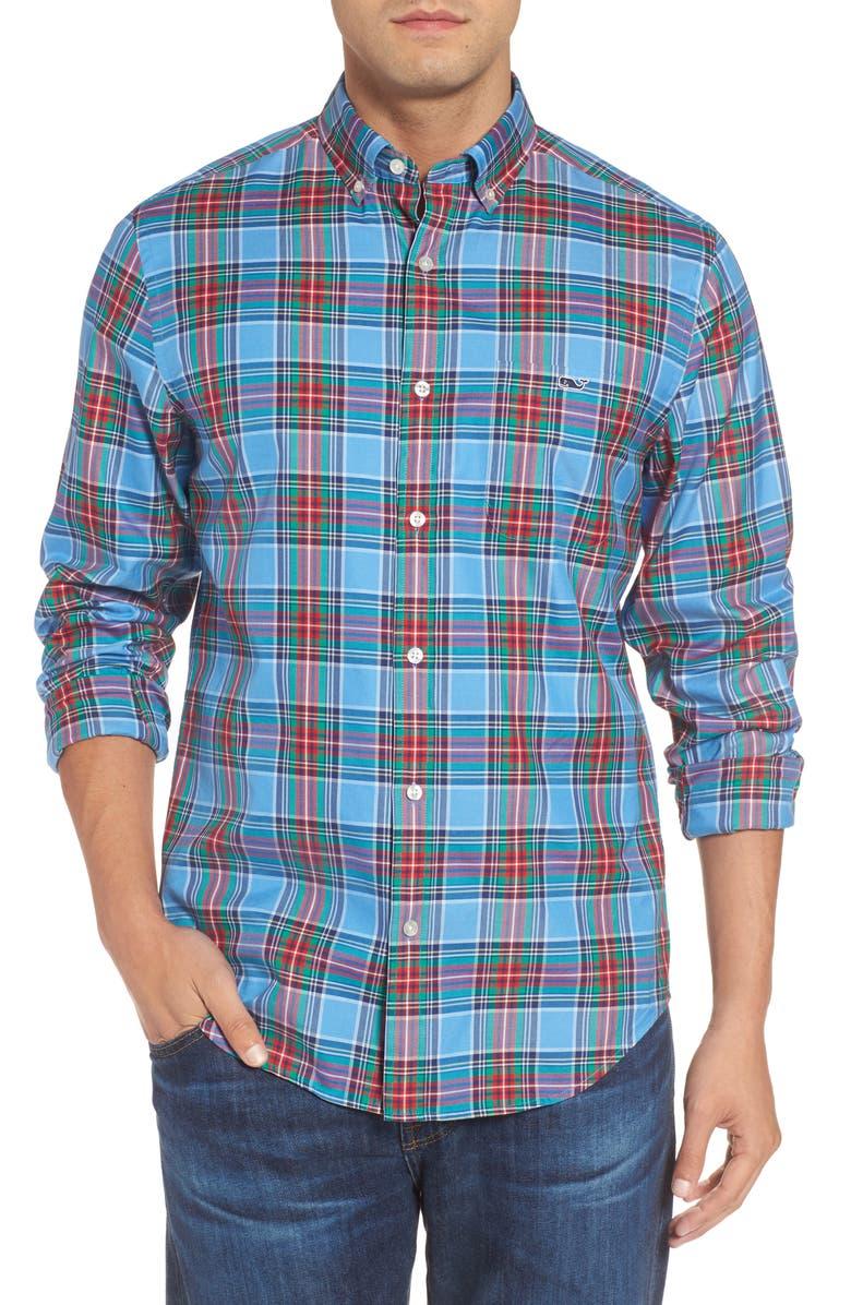 VINEYARD VINES Tucker Belmont Classic Fit Plaid Sport Shirt, Main, color, 447