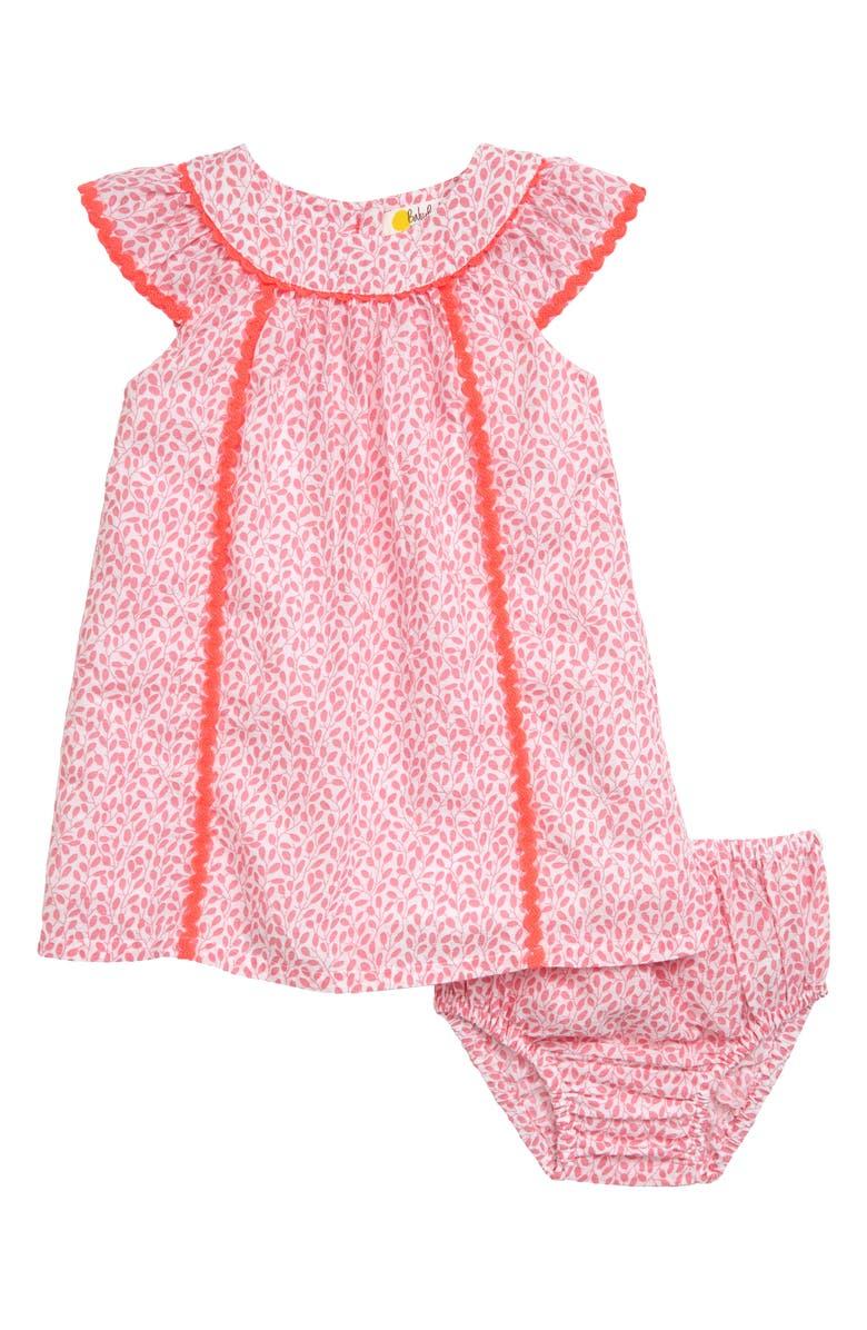 MINI BODEN Tropical Print Dress, Main, color, 684
