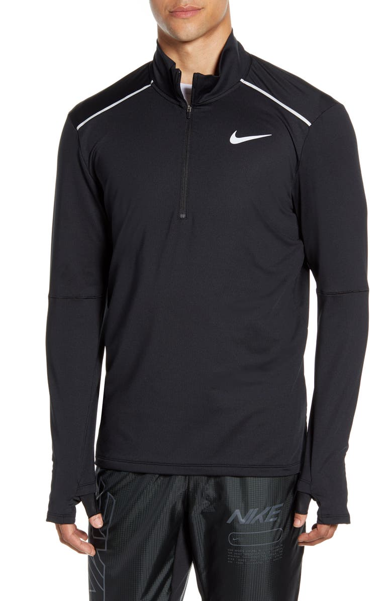 NIKE Element 3.0 Half-Zip Top, Main, color, BLACK/ REFLECTIVE SILVER