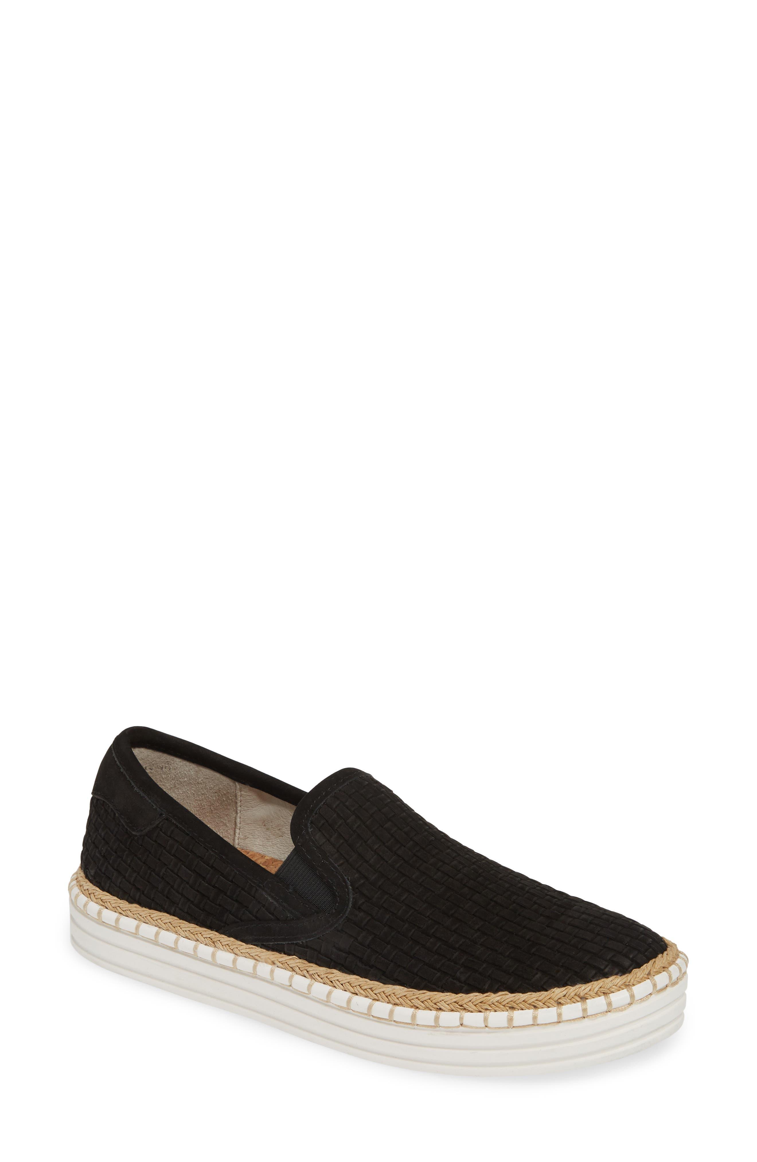 Jslides Kelly Woven Slip-On Sneaker- Black