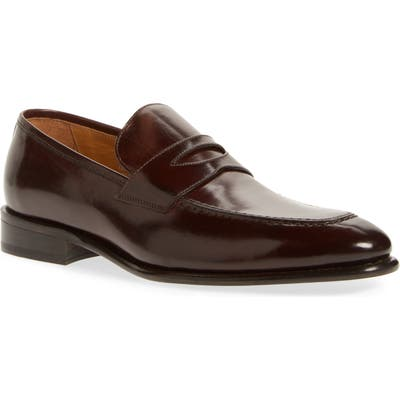 Florsheim Imperial Venucci Apron Toe Penny Loafer - Brown