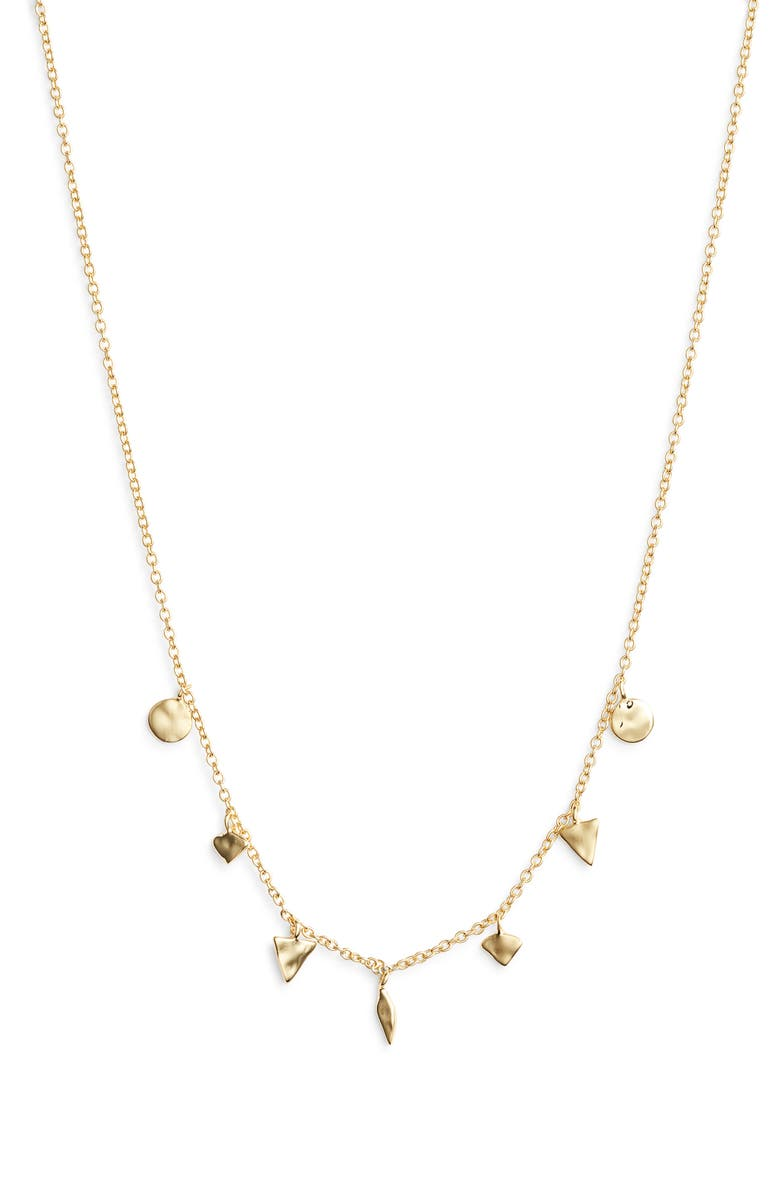 GORJANA Luca Charm Necklace, Main, color, GOLD