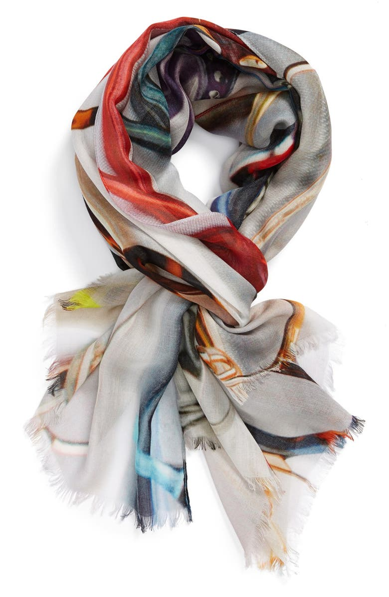 NORDSTROM 'Sunglasses' Scarf, Main, color, 600