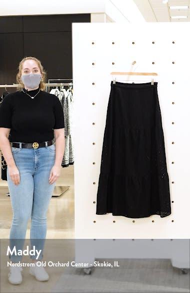 Eyelet Tiered Skirt, sales video thumbnail