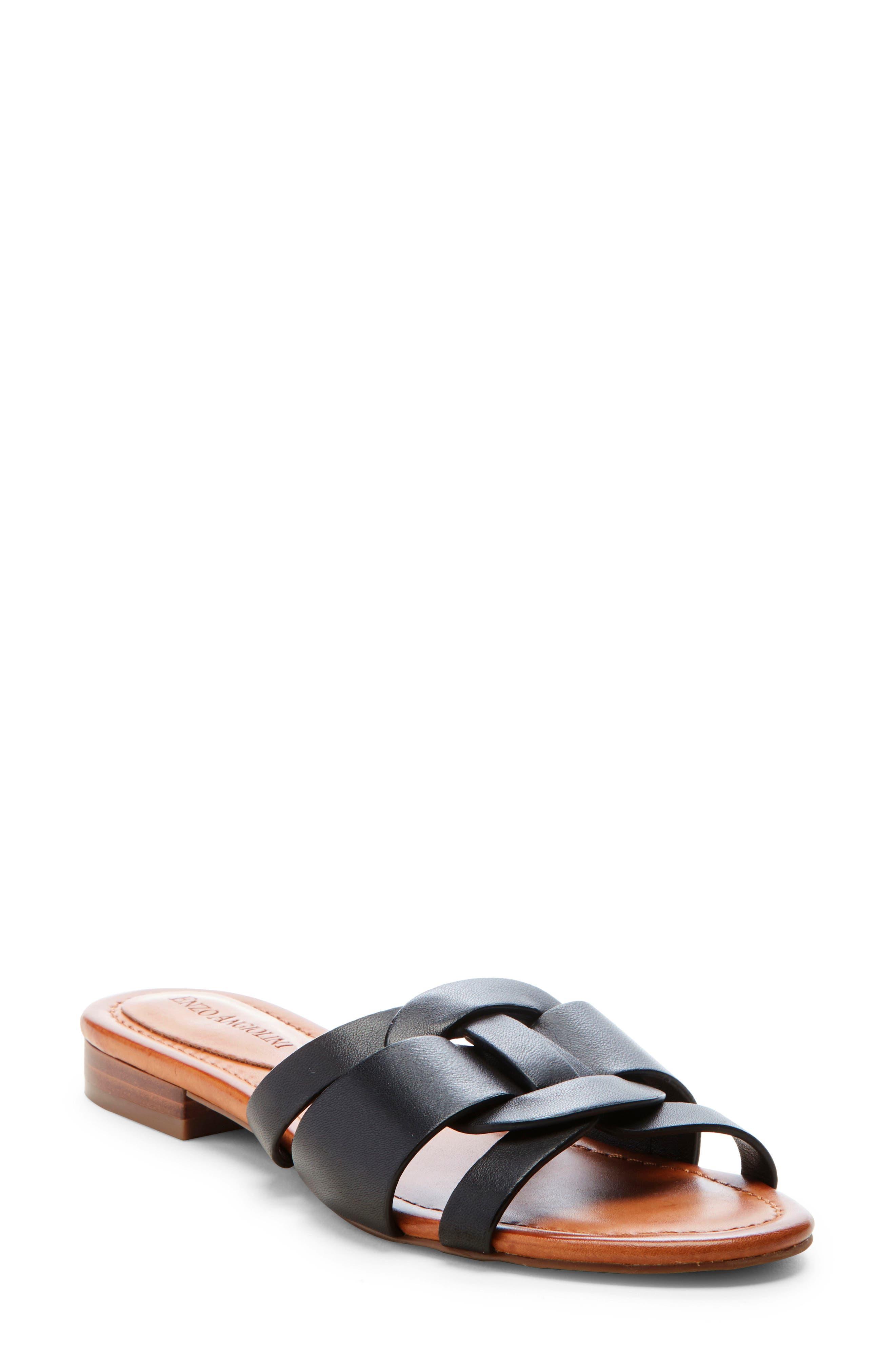 Enzo Angiolini Golda Slide Sandal, Black