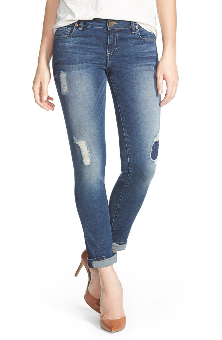 KUT FROM THE KLOTH 'Catherine' Distressed Boyfriend Jeans (Activist), Main, color, 400