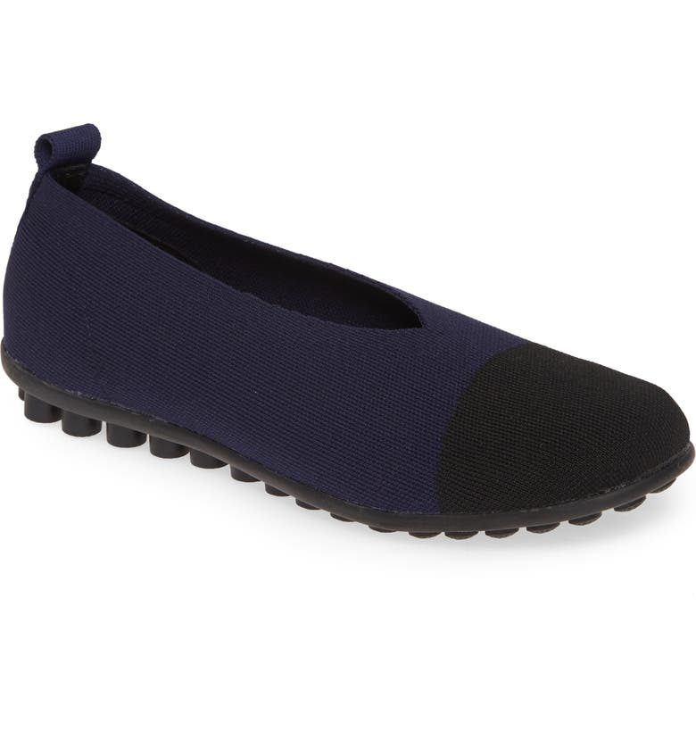 BERNIE MEV. Shira Flat, Main, color, NAVY FABRIC