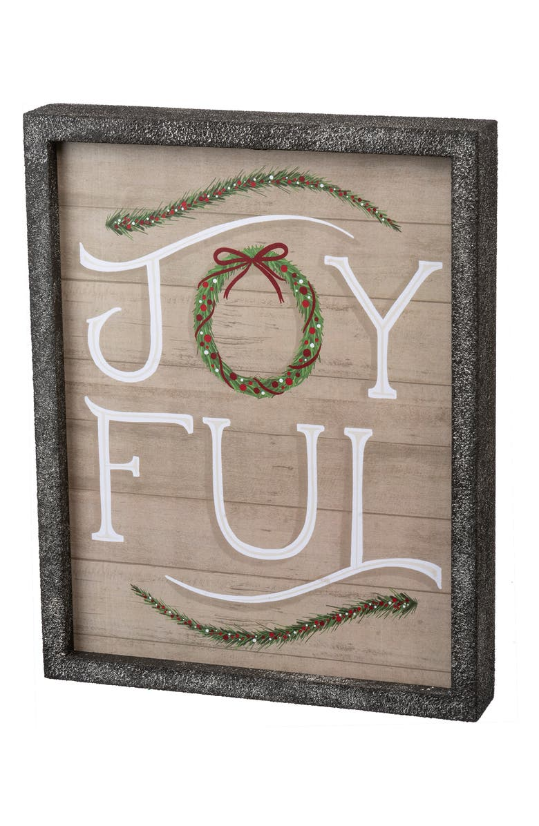PRIMITIVES BY KATHY Joyful Inset Box Sign, Main, color, GREY