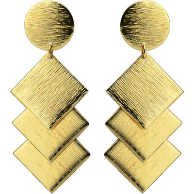 Karen London A Night In Rome Textured Drop Earrings
