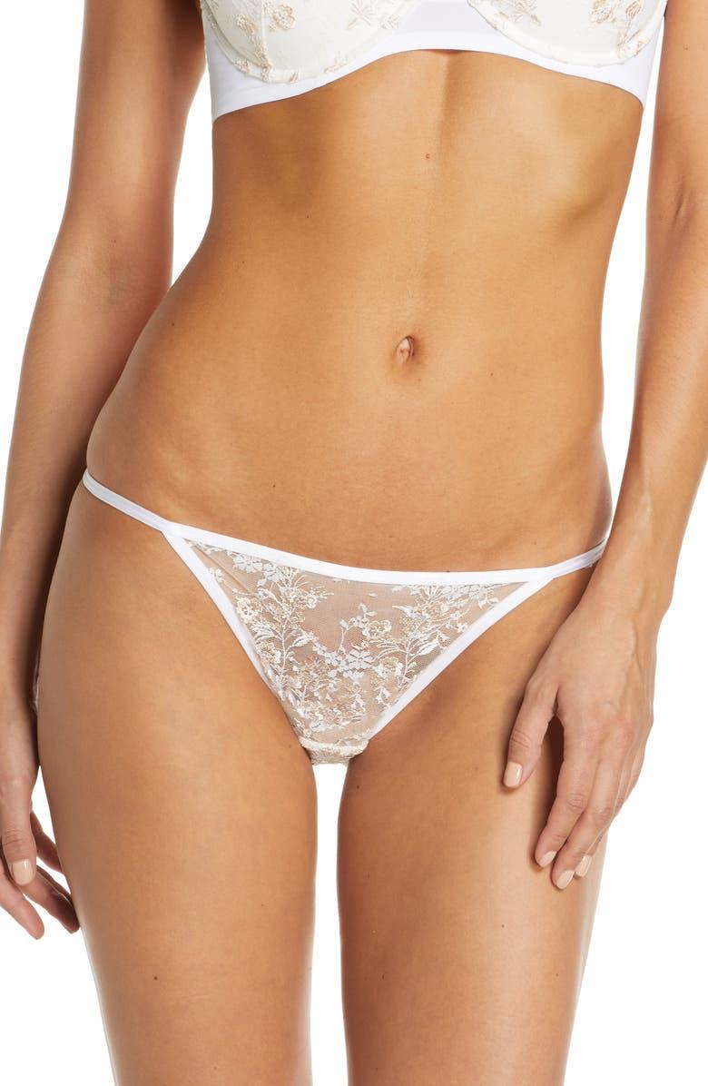 NATORI Obsession Lace Thong, Main, color, WHITE COMBO