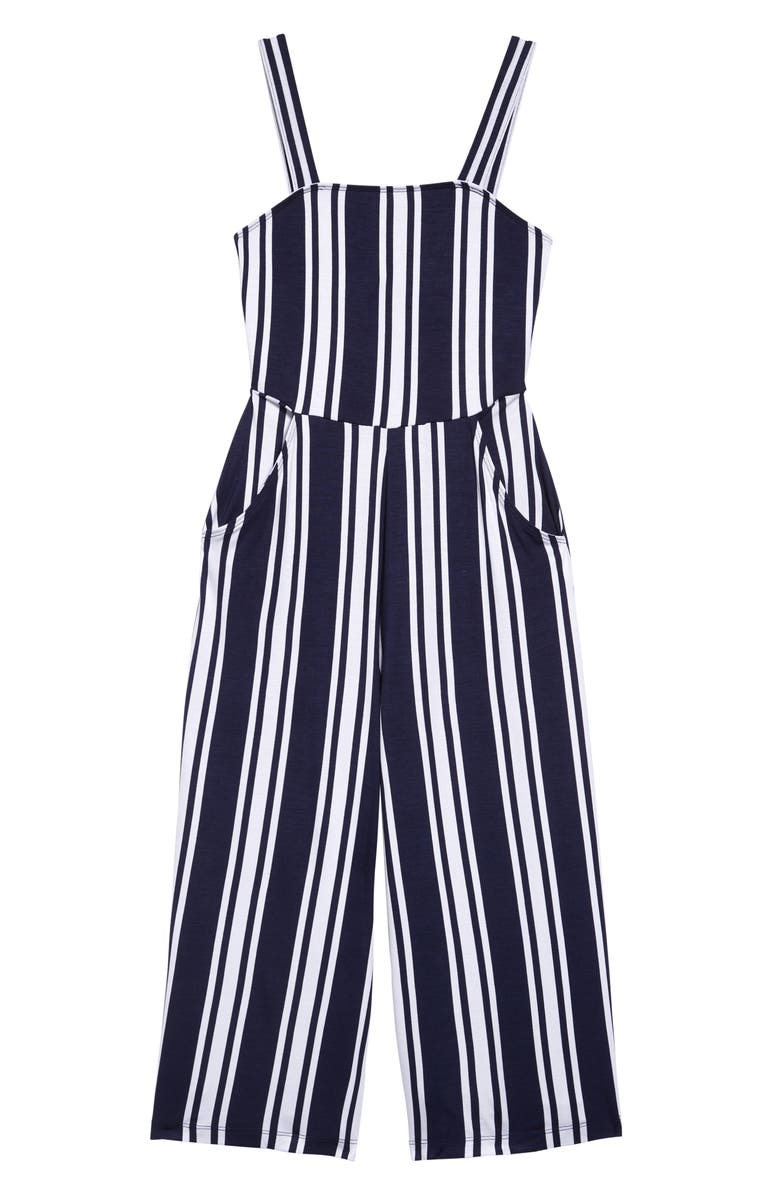 TUCKER + TATE Got Your Back Jumpsuit, Main, color, NAVY PEACOAT VERTICAL STRIPE