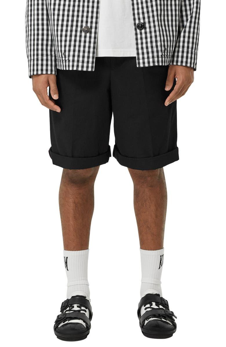 BURBERRY Dan Shorts, Main, color, BLACK