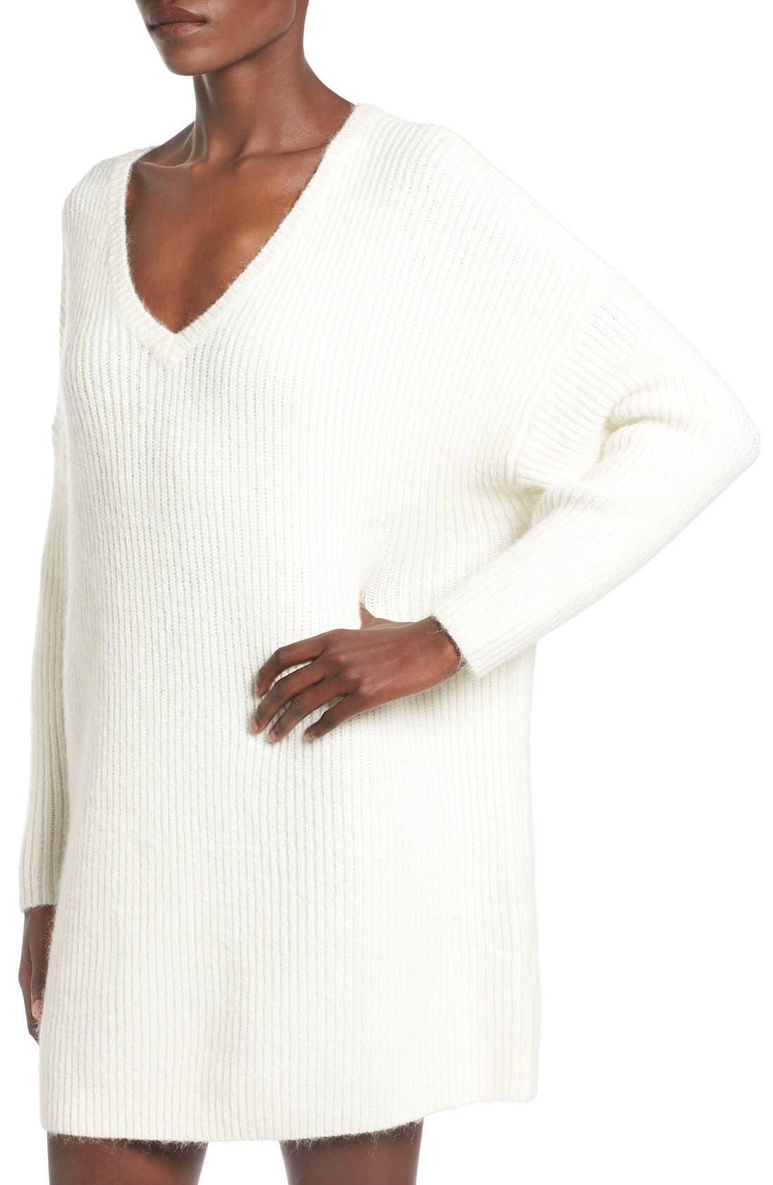 ,                             V-Neck Sweater Minidress,                             Alternate thumbnail 10, color,                             900