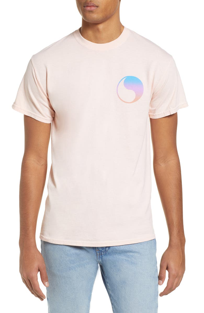 FREE & EASY Prism Yin Yang Logo T-Shirt, Main, color, PINK