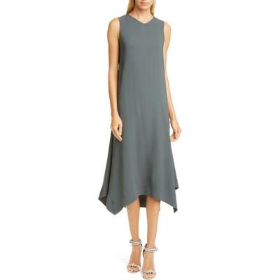 Fabiana Filippi Handkerchief Hem Crepe Midi Dress, US / 46 IT - Green
