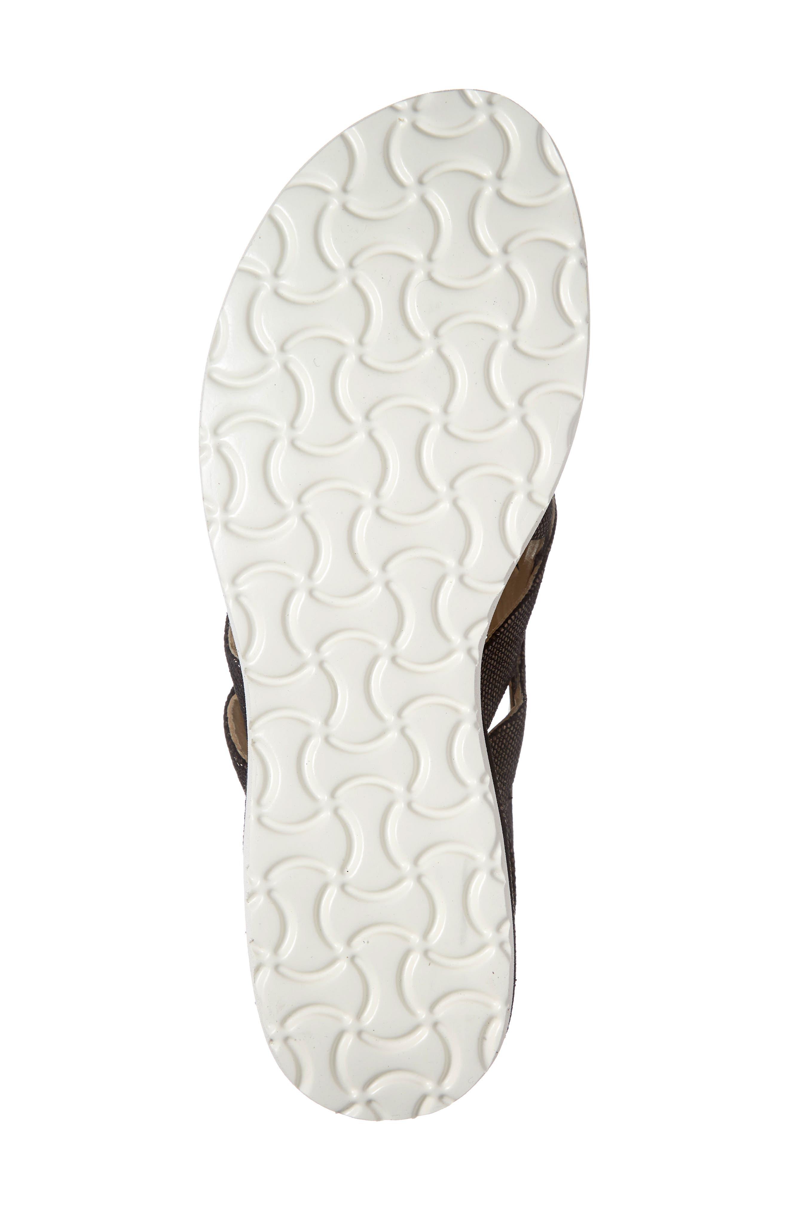 ,                             Biondina Textured Sandal,                             Alternate thumbnail 7, color,                             GRAPHITE LEATHER
