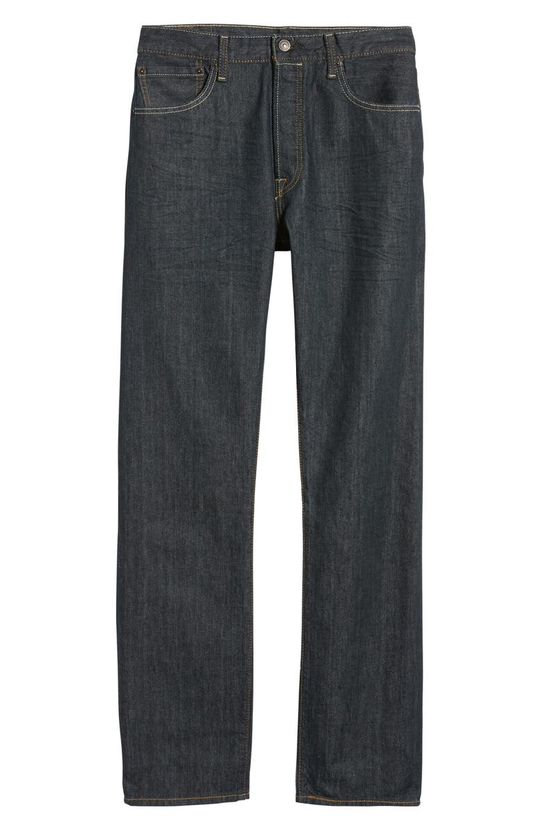 LEVI'S<SUP>®</SUP> 501<sup>®</sup> Straight Leg Jeans, Main, color, DIMENSIONAL RIGID BLUE