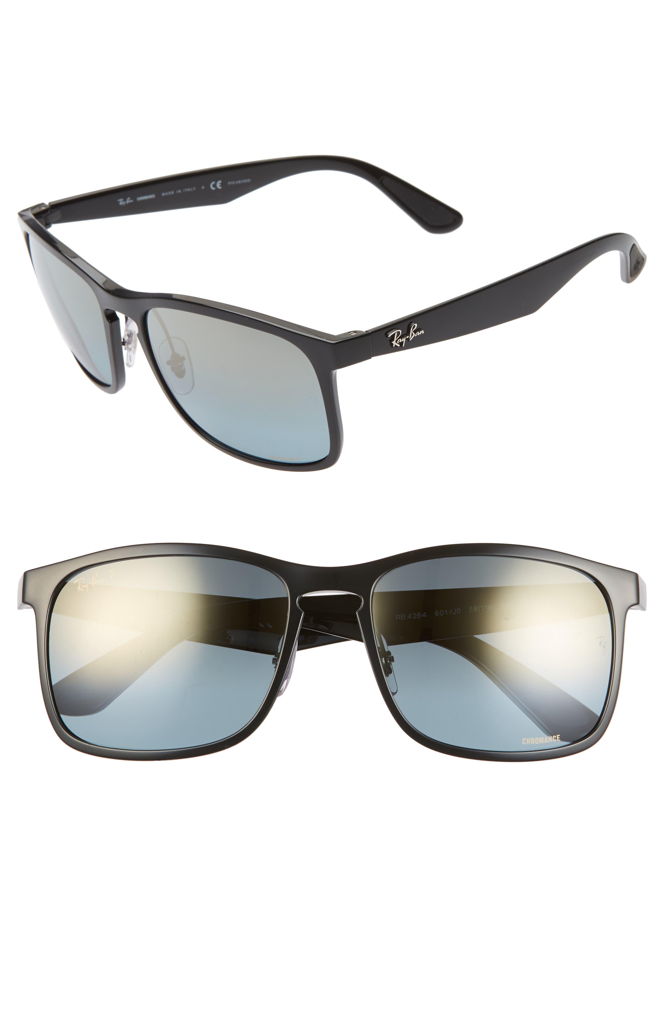 Ray-Ban Tech 62Mm Polarized Wayfarer Sunglasses - Black Gradient Mirror