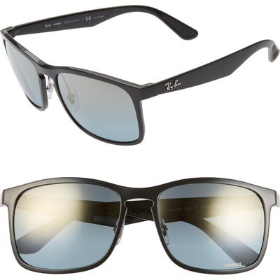 Ray-Ban Tech 62Mm Polarized Wayfarer Sunglasses - Black Gradient Mirror