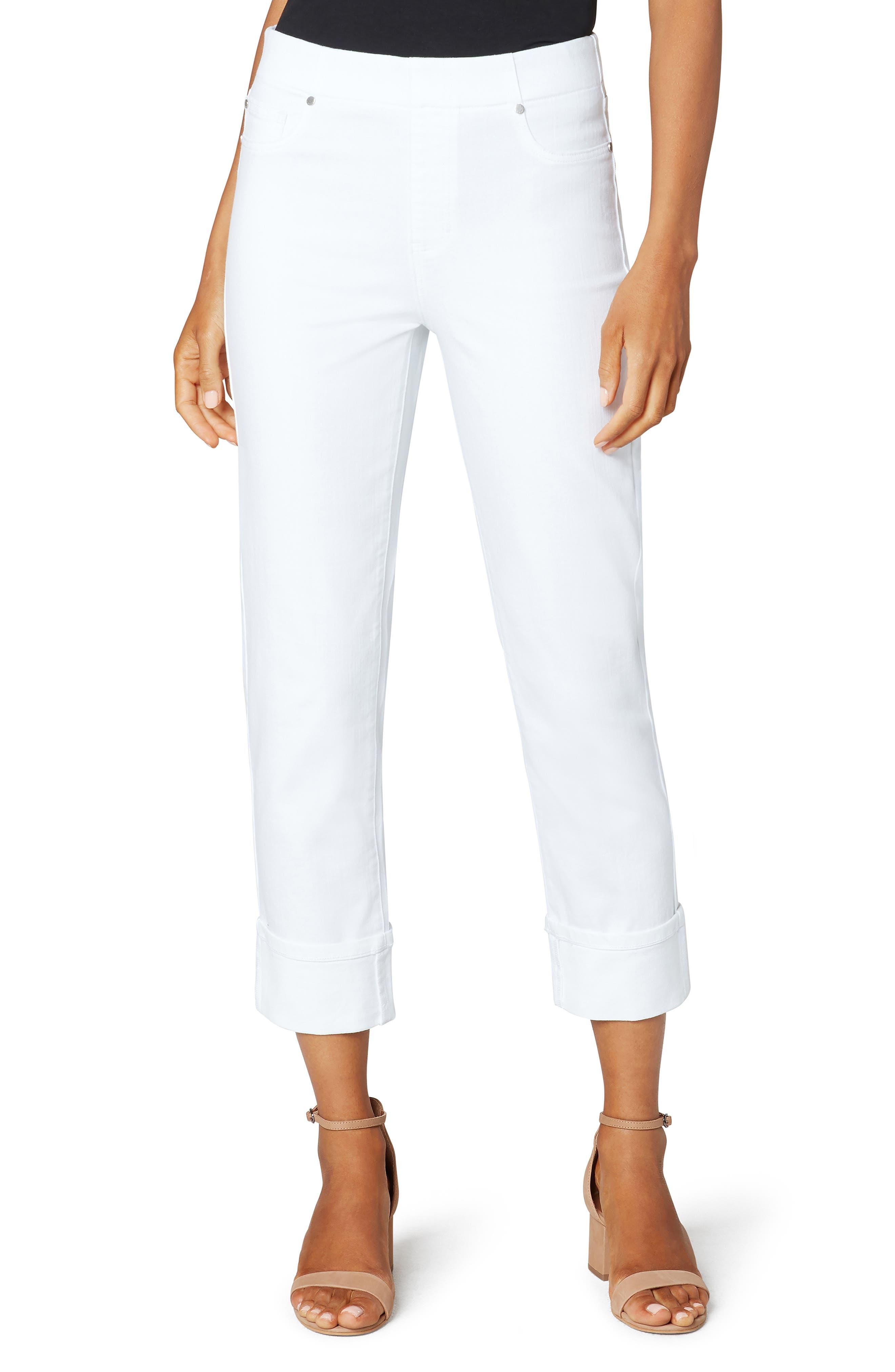 Cuff Crop Straight Leg Jeans