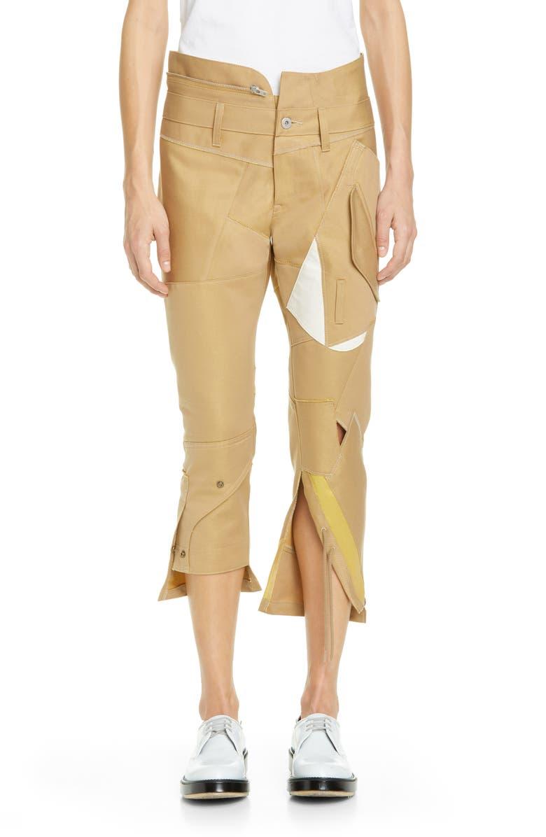 JUNYA WATANABE Utility Pocket Crop Pants, Main, color, BEIGE