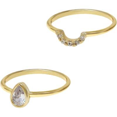 Ettika Crystal Ring Set