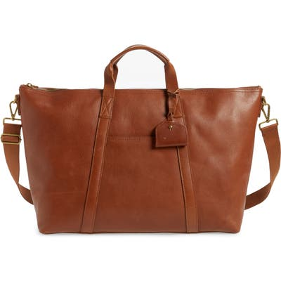 Madewell Essential Leather Overnight Bag - Brown