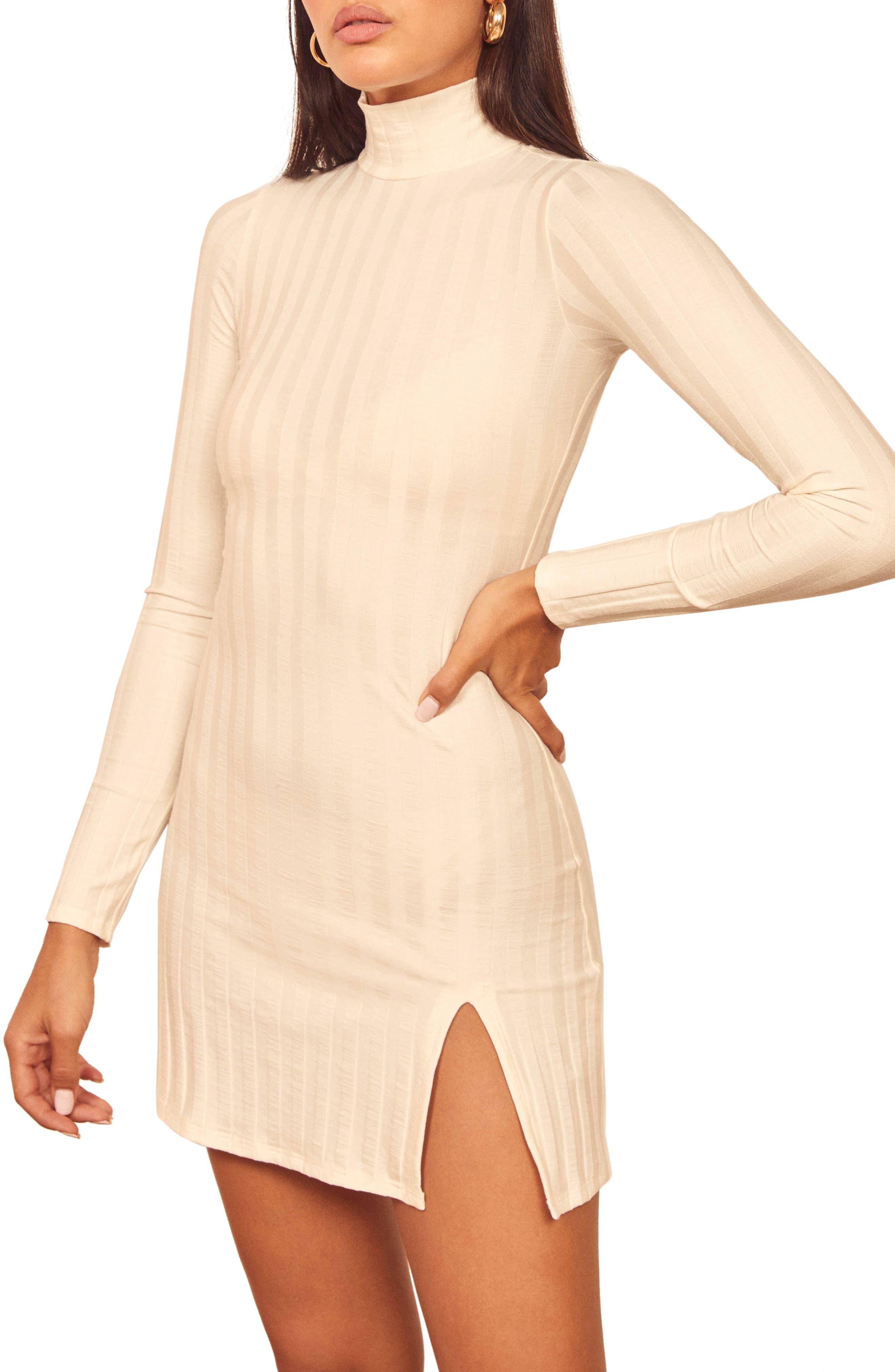 Reformation Libra Long Sleeve Minidress