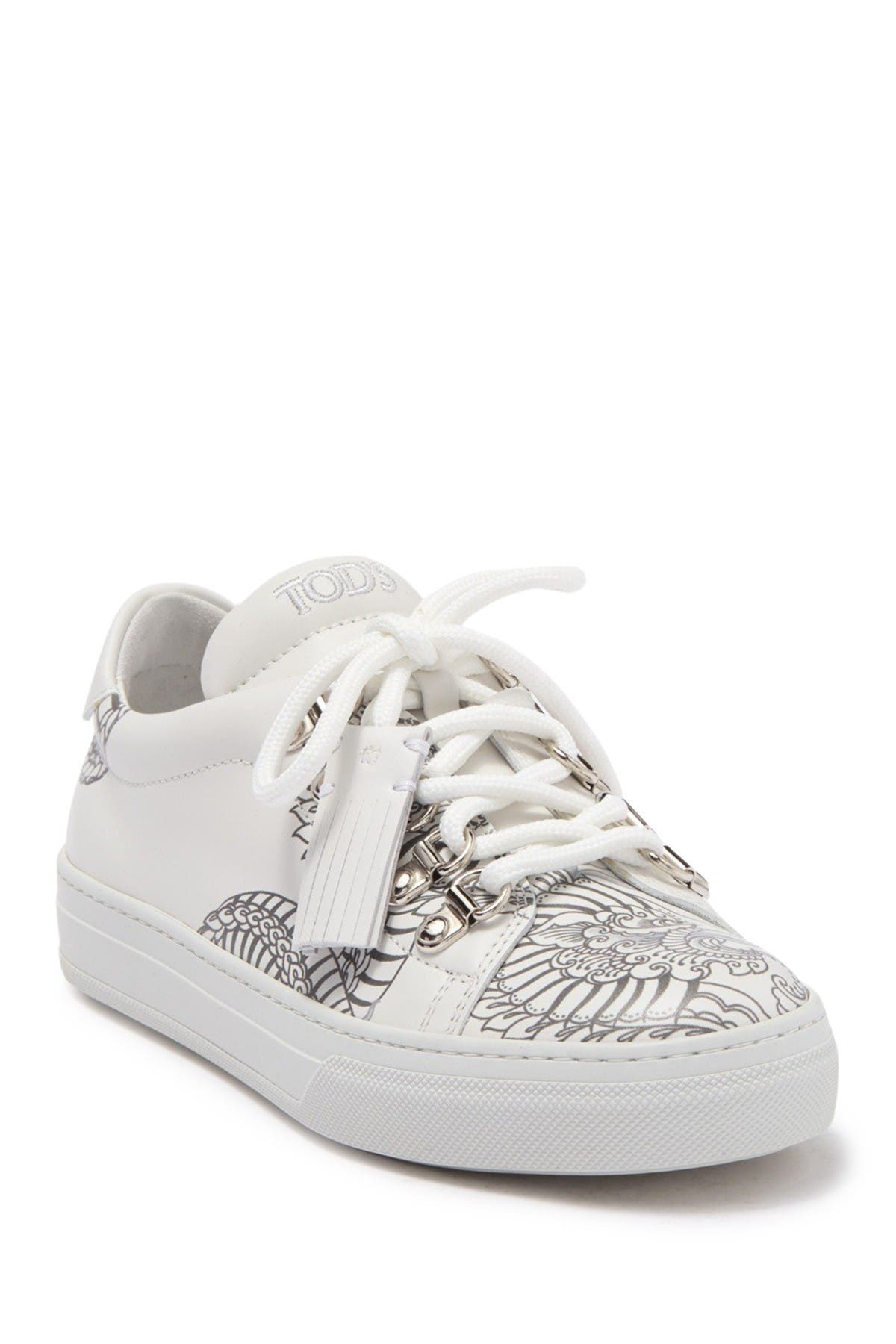 Image of Tod's Mocassino Dragon Leather Sneaker