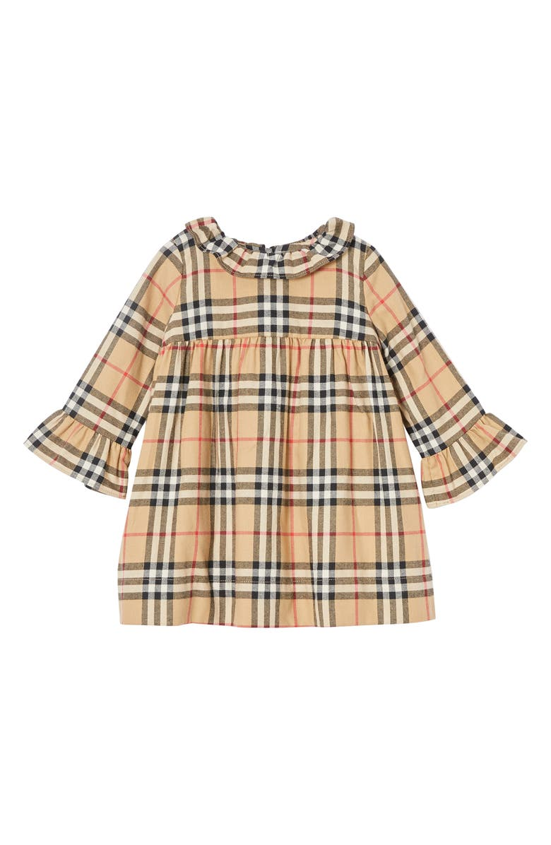 BURBERRY Kitty Check Cotton Dress, Main, color, 250