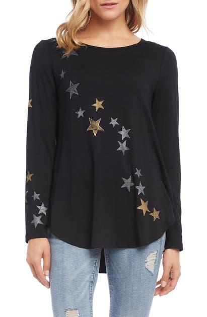 Karen Kane  STAR PRINT TOP